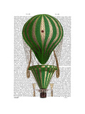 Tiered Hot Air Balloon Green Prints by  Fab Funky