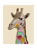 MultiColoured Giraffe Premium Giclee Print by  Fab Funky
