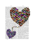 Two Butterfly Hearts Posters by  Fab Funky