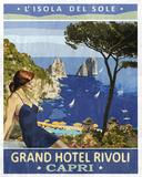 Vintage Travel Capri Giclée-Druck von  The Portmanteau Collection