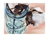 Ball Jar Flower V Affiches par  Redstreake