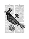 Steampunk Crow Prints by  Fab Funky