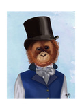 Orangutan in Top Hat Prints by  Fab Funky