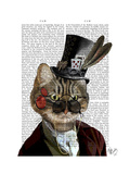 Phileas Feline Steampunk Cat and Top Hat Posters by  Fab Funky