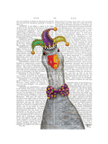 Mardi Gras Goose Jester Hat Poster by  Fab Funky