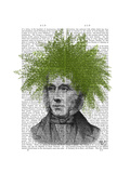 Asparagus Fern Head Plant Head Premium Giclee Print by  Fab Funky