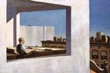 Edward Hopper - Office in a Small City, 1954 Digitálně vytištěná reprodukce