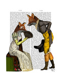 Foxes Courting Poster by  Fab Funky