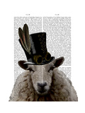 Steampunk Sheep Print by  Fab Funky