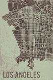 LA Street Map Giclee Print by Tom Frazier