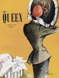The Queen - Saffron Giclee Print by  The Vintage Collection