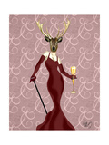 Glamour Deer in Marsala Posters by  Fab Funky