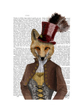 Vivienne Steampunk Fox Prints by  Fab Funky