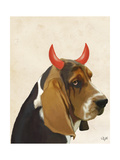 Little Devil Basset Hound Prints by  Fab Funky