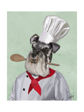 Schnauzer Chef Prints by  Fab Funky