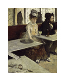 In a Cafe, 1873 Premium Giclee Print by Edgar Degas