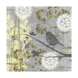 Serene Bird and Branch I Posters by Jennifer Goldberger