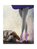 Bloodhound and Ballet Dancer Posters by  Fab Funky