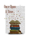 Once Upon a Time Books Prints by  Fab Funky