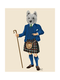West Highland Terrier in Kilt Posters by  Fab Funky