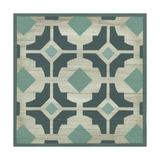 Verdigris Garden Tile III Print by June Erica Vess