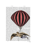 Vintage Flying Machine Print by  Fab Funky