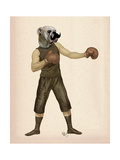 Boxing Bulldog Full Schilderijen van  Fab Funky