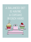A Balanced Diet Premium Giclee Print by  Fab Funky