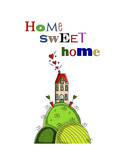 Home Sweet Home Premium Giclee Print by  Fab Funky