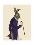Hare in Purple Coat Prints by  Fab Funky