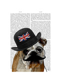 British Bulldog and Bowler Hat Prints by  Fab Funky