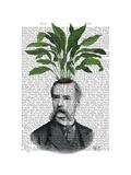 Aspidistra Head Plant Head Premium Giclee Print by  Fab Funky