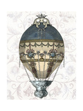 Baroque Balloon Blue and Cream Posters by  Fab Funky