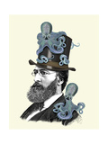 Doctor Octopus Premium Giclee Print by  Fab Funky