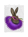 Mardi Gras Hare Posters by  Fab Funky
