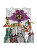 Mardi Gras Gaggle of Geese Premium Giclee Print by  Fab Funky