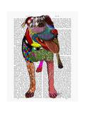 Staffordshire Bull Terrier - Patchwork Posters by  Fab Funky