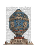 Montgolfier Aerostatique Hot Air Balloon Posters by  Fab Funky