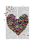 Butterfly Heart Prints by  Fab Funky