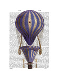 Tiered Hot Air Balloon Blue Print by  Fab Funky