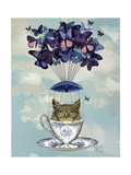Fab Funky - Owl in Teacup Obrazy