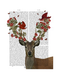 Deer and Love Birds Poster by  Fab Funky