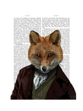 Fox Portrait 2 Posters by  Fab Funky
