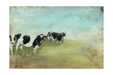 Country Drive Cows II Art by Naomi McCavitt
