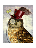 Owl with Top Hat Prints by  Fab Funky
