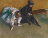 L'Attente, c.1882 Giclee Print by Edgar Degas