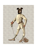 Greyhound Fencer in Cream Full Reproduction giclée Premium par  Fab Funky