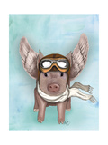 Aviator Piggy Art by  Fab Funky