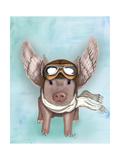Aviator Piggy Art by  Fab Funky