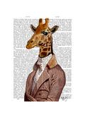 Regency Giraffe Premium Giclee Print by  Fab Funky